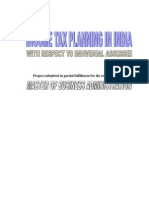 Income Tax Planning in India With Respect to Individual Assessee MBA Project