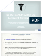 Do US Health Providers use Consistent Terminology? | Clarity Grader