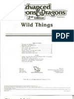Wild Things Set TSR 2020S Wilderness Survival Guide