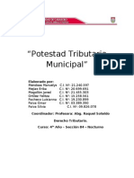Potestad Tributaria Municipal (Trabajo)