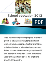 School Education India 2012