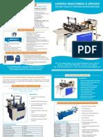 Harish Machines brochure design
