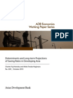 Determinants and Long-term Projections of Saving Rates in Developing Asia