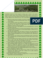 Recommended rules for cotton cultivation in Punjab and Sindh, Pakistan