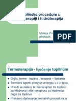 Toplinske Procedure u Fizioterapiji i Hidroterapija Vll