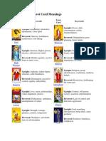 image relating to Free Printable Tarot Card Deck named Totally free Printable Tarot Card Meanings Flashcards Term Dynamo