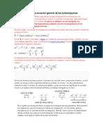 Consecuencias de la ecuación general de las turbomáquinas