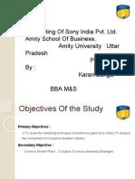 Marketing at Sony India