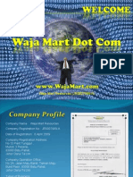 Waja Mart Dot Com Power Point Presentation