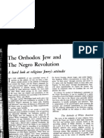 The Orthodox Jew and the Negro Revolution