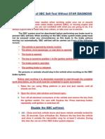 Deactivation_Reactivation of SBC Self Test