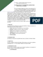 Guía para la elaboración de un Informe de Laboratorio APUNTE DE LA CÁTEDRA