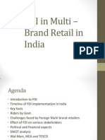 FDI in Multi – Brand Retail in India