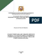 Proyecto de Investigacion Segun La Universidad