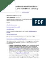 Nova Funcionalidade Administrativa No Console de Gerenciamento Do Exchange