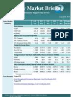 Weekly Market Briefing (Aug 26, 2013)