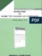 Century Marine Type Air Con Instr. Manual