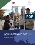 Indeks Održivosti OCD 2012 - Srbija