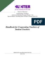 hunter college cooperating teachers handbook-fall 2013
