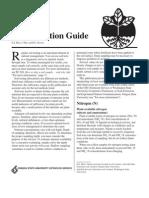 Soil Test Intrepretation Guide