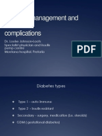 Diabetes Management and Complications