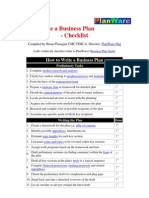 How to Write a Business Plan Checklist