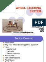Four-Wheel Steering Repor Ppt