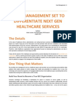 Care Management Set to Differentiate Next Gen Healthcare Services