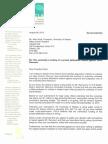 Letter from OCLA to U of O President Allan Rock