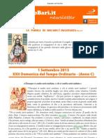 Newsletter San Paolo Bari 1 Settembre