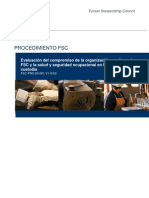 FSC-PRO-20-001 V1-0 ES Evaluacion de Los Valores FSC Salud y Seguridade en CdC