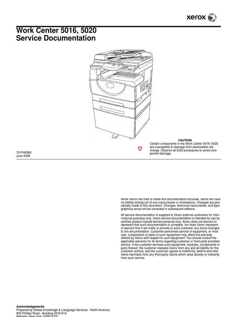 Xerox WorkCentre 5016 5020 Service manual | Troubleshooting | Electrical  Connector