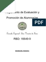 Reglamento de Evaluación SAN VICENTE