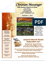 September 1 Newsletter