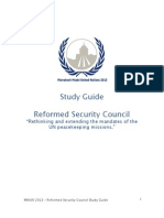 MMUN 2013 Topic Guide - Reformed Security Council