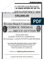 Palm Beach Sun $50,000 Corruption Reward 2