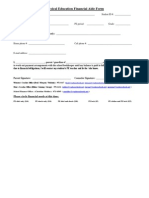 physical education financial aide form