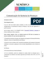 Comunicação de Facturas às Financas