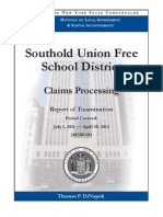 State audit of Southold School District's claims processing, 2013