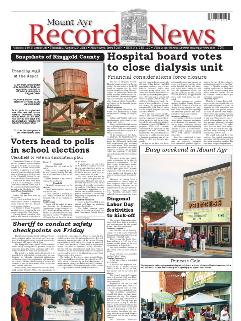 August 29, 2013 Mount Ayr Record-News | Voting | Business
