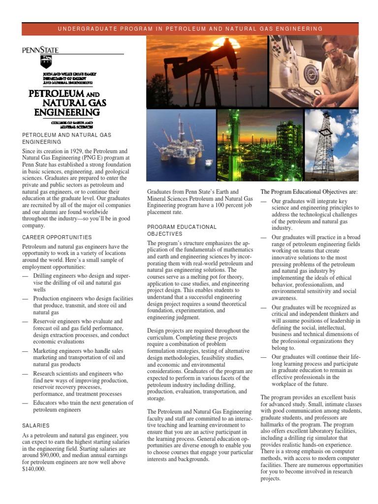 Pnge Brochure | Engineering | Petroleum