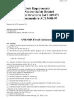 ACI 349-97 Apendice B