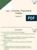 Consultar, Programação, SQL - Gatilhos