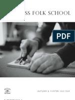 Driftless Folk School Class Catalog - Fall/Winter 2013/2014