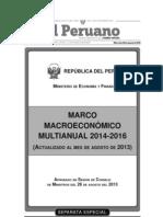 Marco Macroeconómico Multianual 2014-2016 Actualizado agosto de 2013
