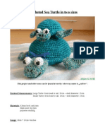 Crocheted Sea Turtle in Two Sizes