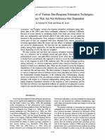 A Comparison and Test of Various Site-Response Estimation Techniques,