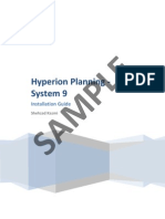 Hyperion Planning - System 9