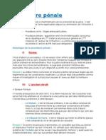 Fiches Procédure pénale 2011-2012