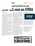 Stop U.S. War on Syria